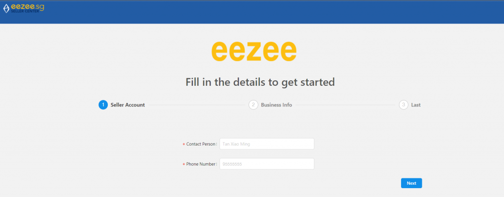 Eezee seller registration
