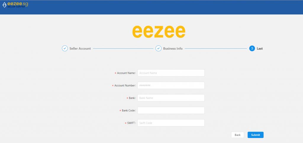 Eezee seller registration