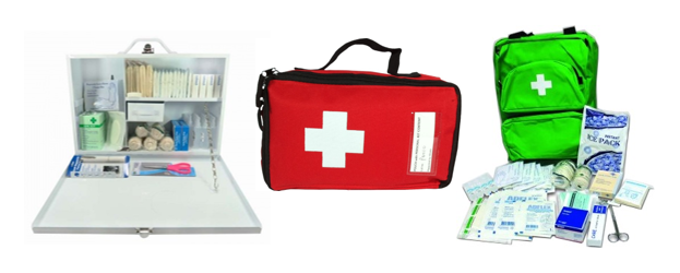 Eezee First Aid Kit Box Medical Supplies Canvas Pouch Sports Camping