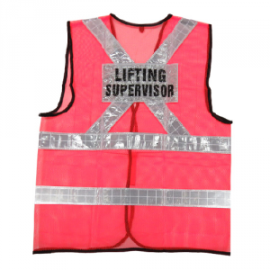 Eezee Accolade Safety AccSafe Safety Vest Red Lime Green Mesh with Reflective Strip Printing Customisable