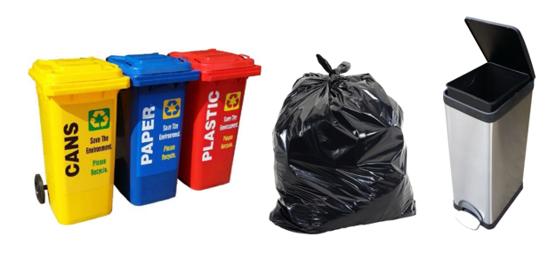 Eezee Cleaning Products Trash and Recycling Bins Garbage Dustbin