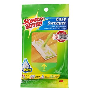 3M Scotch Brite Easy Sweeper Wet Wiper Refill Q1600RW-E Spring Cleaning