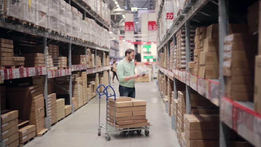 Eezee Trolley in warehouse