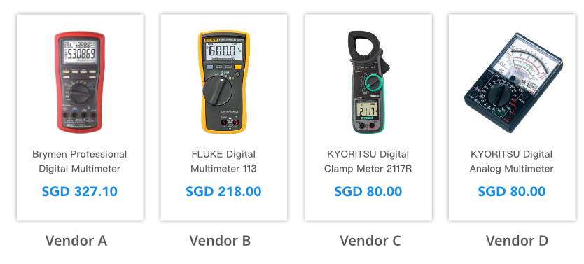 multiple vendors & product offers